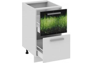 Шкаф напольный с 2-мя ящиками ФЭНТЕЗИ (Грасс)