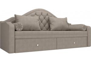 Прямой диван софа Сойер Бежевый (Рогожка)