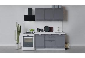 Кухонный гарнитур «Долорес» длиной 150 см (Белый/Титан)