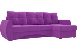 Угловой диван Сатурн Фиолетовый (Микровельвет)