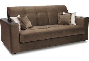Диван «Орион Т1» (145х200) Beauty 04 (велюр) коричневый