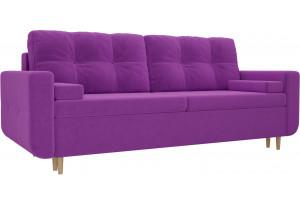 Прямой диван Кэдмон Фиолетовый (Микровельвет)