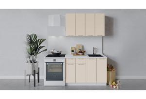 Кухонный гарнитур «Весна» длиной 120 см (Белый/Ваниль глянец)