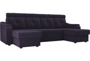 П-образный диван Джастин Фиолетовый (Велюр)