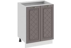 Шкаф напольный с двумя дверями «Бьянка» (Белый/Дуб серый)