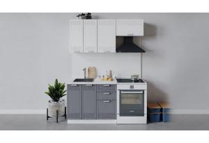 Кухонный гарнитур «Долорес» длиной 160 см (Белый/Сноу/Титан)