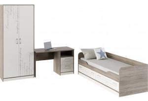 Набор детской мебели «Брауни» стандартный Фон бежевый с рисунком/Дуб Сонома трюфель
