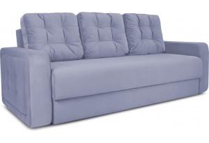 Диван «Колин» (Poseidon Blue Graphite (иск.замша) серо-фиолетовый)