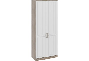 Шкаф для одежды с 2-мя глухими дверями «Прованс» Дуб Сонома трюфель/Крем