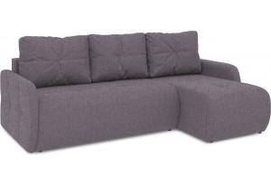 Диван угловой правый «Томас Slim Т1» (Levis 68 (рогожка) Темно - фиолетовый)