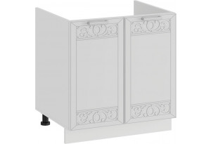 Шкаф напольный с двумя дверями (под накладную мойку) «Долорес» (Белый/Сноу)