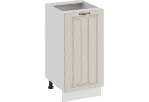 Шкаф напольный с одной дверью «Лина» (Белый/Крем)