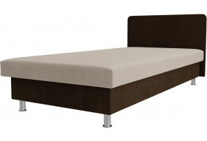 Кровать Мальта бежевый/коричневый (Велюр)