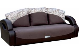 Диван-кровать трехместный Токио коричневый