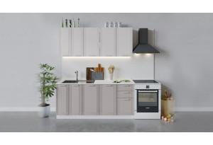 Кухонный гарнитур «Ольга» длиной 180 см (Белый/Белый/Кремовый)