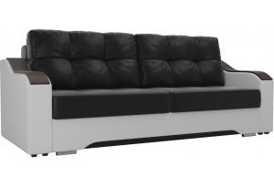 Прямой диван Браун Черный/Белый (Экокожа)