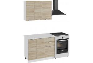 Кухонный гарнитур «Гранита» стандартный набор (Белый/Дуб сонома)