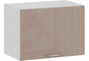 Шкаф навесной c одной откидной дверью «Весна» (Белый/Кофе с молоком)