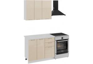 Кухонный гарнитур «Весна» стандартный набор (Белый/Ваниль глянец)
