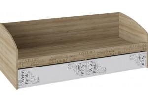 Кровать с 2 ящиками «Оксфорд» Ривьера/Белый с рисунком