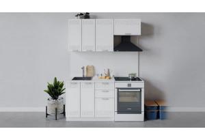 Кухонный гарнитур «Долорес» длиной 160 см (Белый/Сноу)