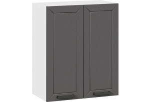 Шкаф навесной c двумя дверями «Лорас» (Белый/Холст вулкан)