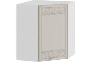 Шкаф навесной угловой «Долорес» (Белый/Крем)