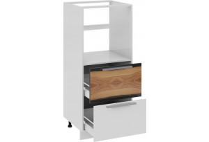 Шкаф комбинированный под бытовую технику с 2-мя ящиками Фэнтези (Вуд)