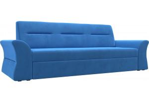 Прямой диван Клайд Голубой (Велюр)