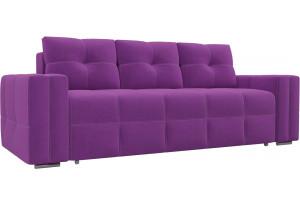 Диван прямой Леос Фиолетовый (Микровельвет)