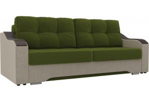 Прямой диван Браун Зеленый/Бежевый (Микровельвет)