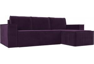 Угловой диван Куба Фиолетовый (Велюр)