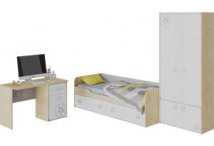 Набор детской мебели «Мегаполис» стандартный Бунратти/Белый с рисунком