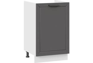 Шкаф напольный с одной дверью (под накладную мойку) «Лорас» (Белый/Холст вулкан)