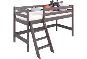 Вариант 12 Низкая кровать Соня Лаванда с наклонной лестницей