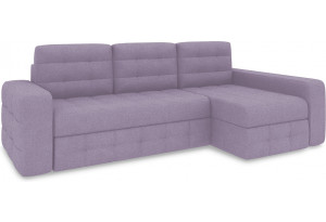 Диван угловой правый «Райс Т2» (Neo 09 (рогожка) фиолетовый)