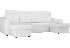 П-образный диван Джастин Белый (Экокожа)