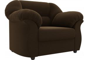 Кресло Карнелла Коричневый (Микровельвет)