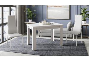 Стол обеденный «Норман» тип 1 Белый/Стекло белый глянец