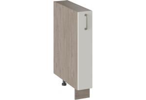 Шкаф напольный с выдвижной корзиной ОДРИ (Бежевый шелк)