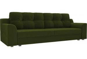 Прямой диван Сансара Зеленый (Микровельвет)