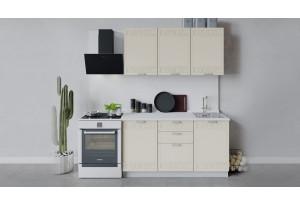 Кухонный гарнитур «Долорес» длиной 150 см (Белый/Крем)