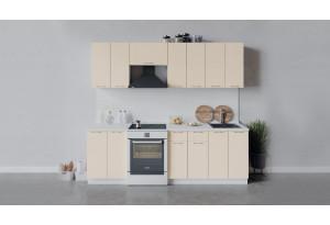 Кухонный гарнитур «Весна» длиной 240 см (Белый/Ваниль глянец)