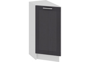 Шкаф напольный торцевой с одной дверью «Ольга» (Белый/Графит)