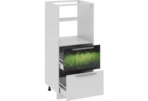 Шкаф комбинированный под бытовую технику с 2-мя ящиками ФЭНТЕЗИ (Грасс)