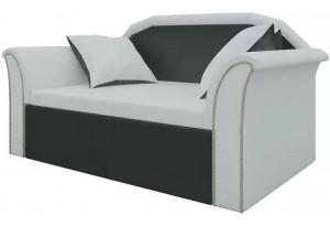 Кушетка Кипр-2 (Белый\Черный) Белый/Черный (Экокожа)
