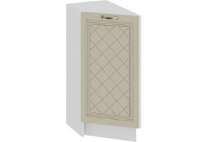 Шкаф напольный торцевой с одной дверью «Бьянка» (Белый/Дуб ваниль)