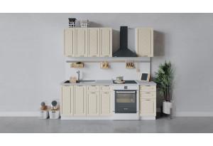 Кухонный гарнитур «Бьянка» длиной 160 см (Белый/Дуб ваниль)