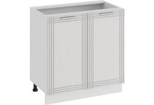 Шкаф напольный с двумя дверями «Ольга» (Белый/Белый)