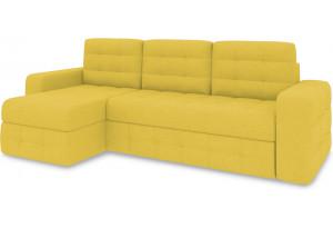 Диван угловой левый «Райс Т1» (Neo 08 (рогожка) желтый)
